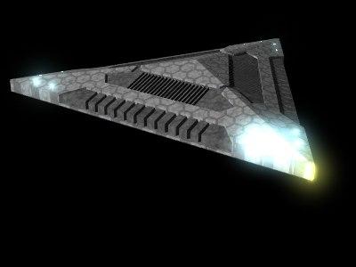3d alien spacecraft model