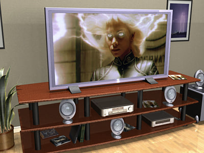 living room tv studiotools 3d 3ds
