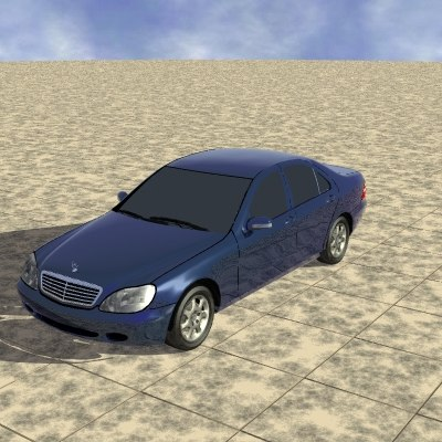 3d model mercedes cars vehicles