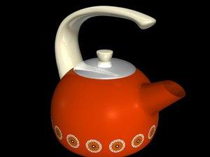 red teapot 3d model