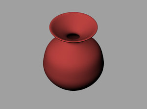 earthenware jug obj