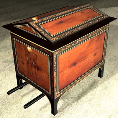 tomb chest exe 3d model
