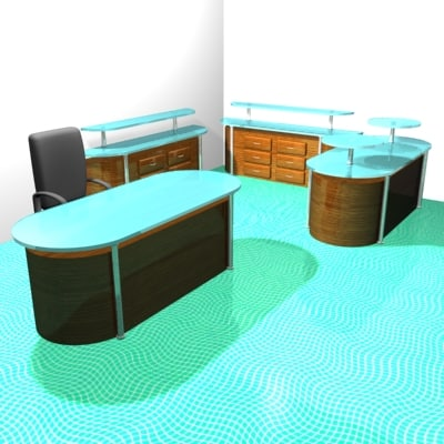 desk table office 3d max