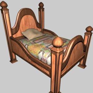 maya bed walk animation skinned