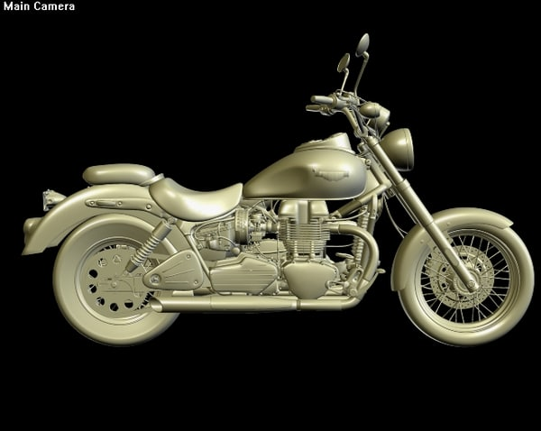 triumph american motorcycle 3d model