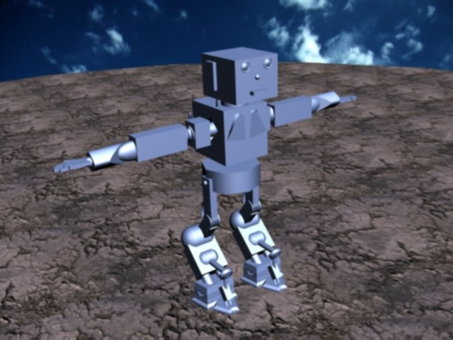 free robot-automatic machine 3d model