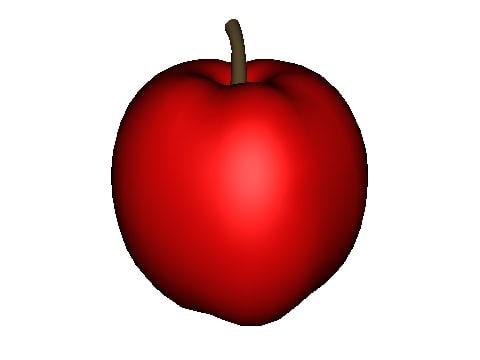 apple eat 3d model