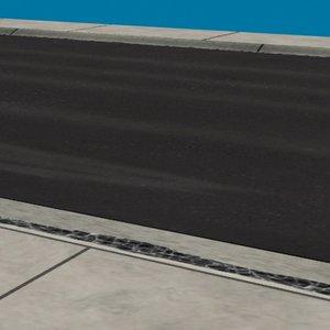 road sub-division 3d model