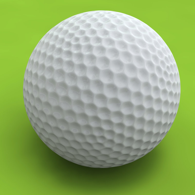golfball golf ball 3d model