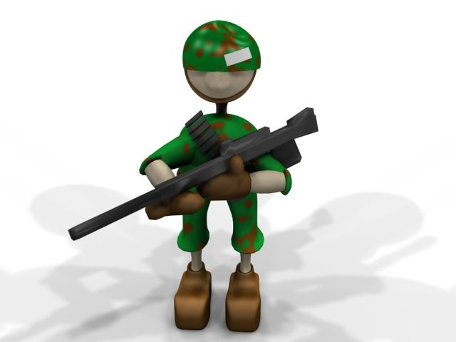 cartoon character army soldier max free
