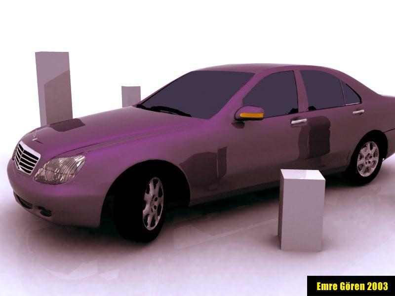 3d model mercedes s class