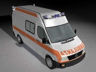 italian ambulance 3d max