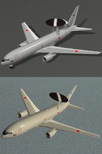 e-767 awacs japanese air force 3d 3ds
