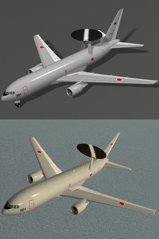 e-767 awacs japanese air force 3d 3ds