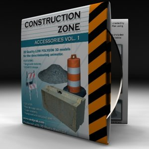 3d 1 construction zone model