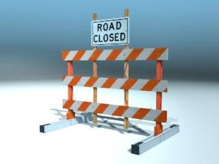 road barricade 1 3d model