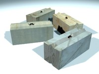 CZ01 Big Concrete Blocks 1-4