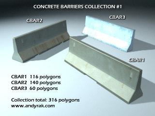 3ds concrete barriers