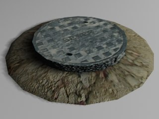 manhole construction sites 3d 3ds