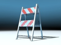 pedestrian barricade open 3d 3ds