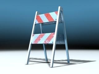 pedestrian barricade open 3d 3ds