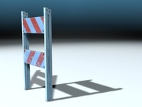 3d pedestrian barricade closed model