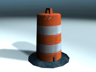 traffic safety barrel 3d max