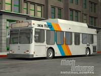 3d model medium bus