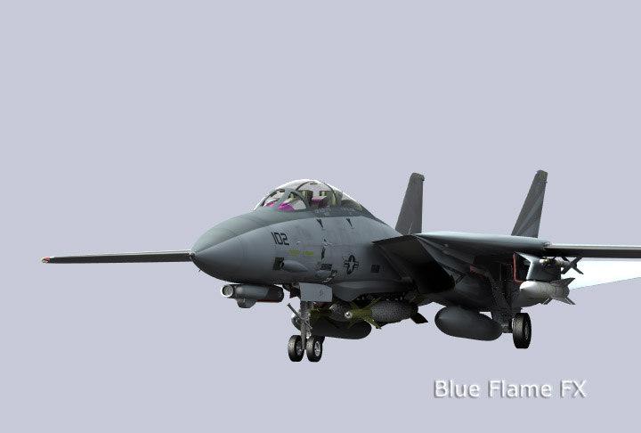 f-14d tomcat f-14 3d model