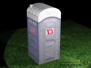 portaloo toilet 3d model