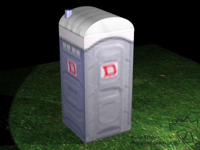portaloo toilet 3d model