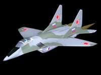 3d mig-29 fighter plane model