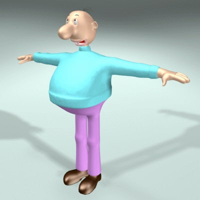 3ds max funny comic character