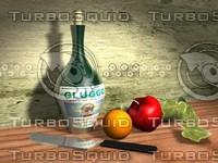 life fruit bottle 3d model