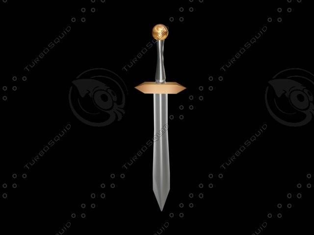 simple sword 3d model