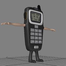 3d model cartoon type mobile phone