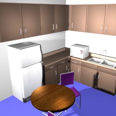 lunchroom cafeteria 3d model