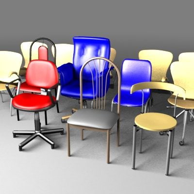 3d model chairs 01