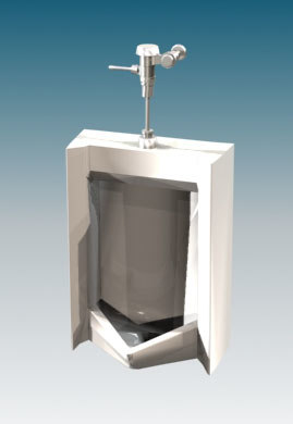 max commercial urinal toilet