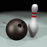 bowling pin ball 3d model