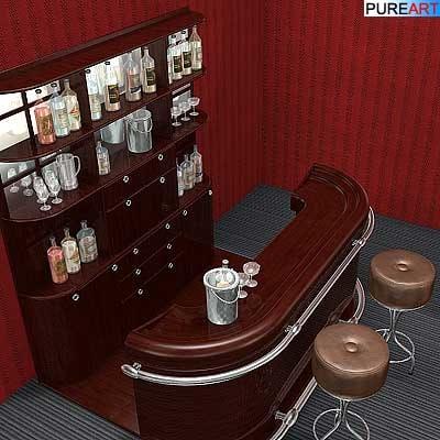 furniture bar 3d model