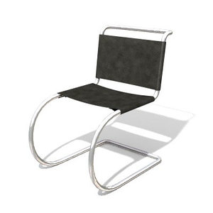 free mr chair mies 3d model