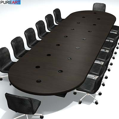 maya office furniture conference table