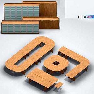 office furniture desk ofc1 3d model
