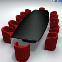 3d model office furniture table ofc1