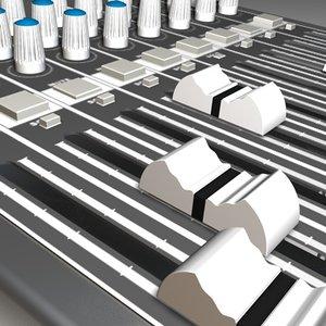 mixing console 3d model