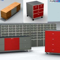 3d office furniture cabinet ofc1 model
