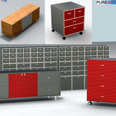 3d office furniture cabinet ofc1 model