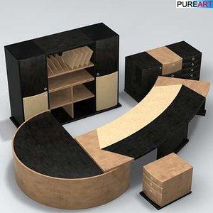 office furniture desk ofc1 3d max