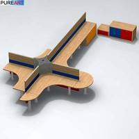 3dsmax office furniture desk ofc1